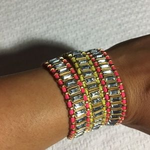 Three j crew fashion friendship bracelets